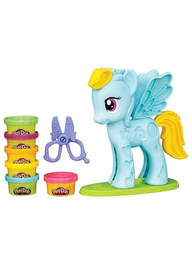 Play Doh Rainbow Dash Saç Stüdyosu-Play-Doh